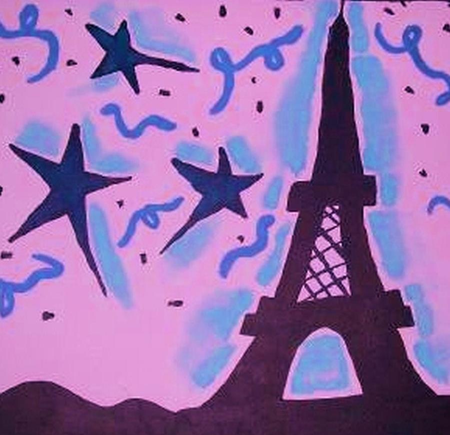 Pink Painting - Paris Alive by Krystyn Lyon
