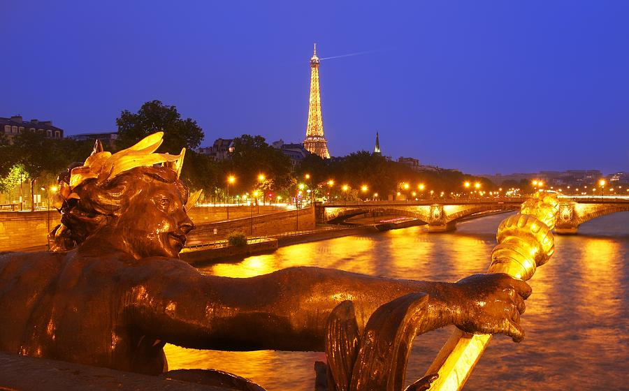 Paris Photograph - Paris At Night by Dan Breckwoldt