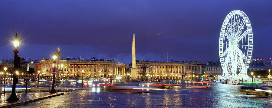 Paris At Night Photograph by Martial Colomb