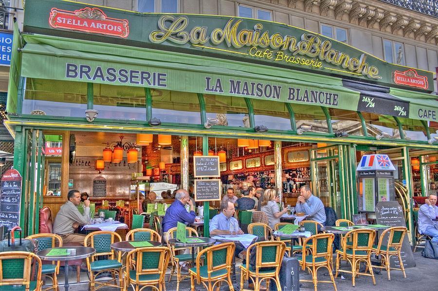Paris Photograph - Paris Cafe In Summer by Matthew Bamberg