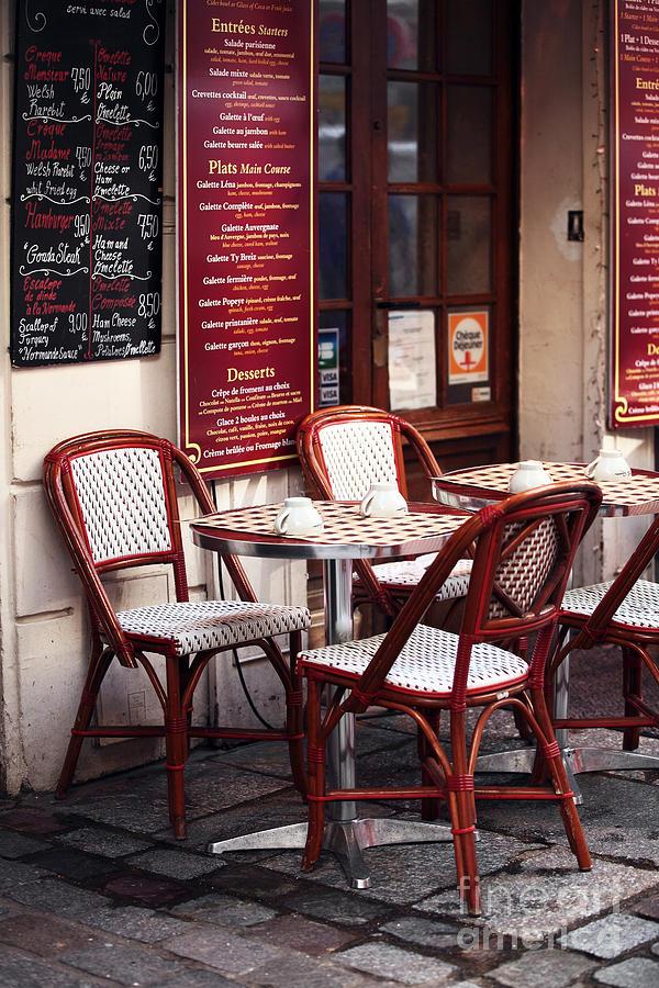 Paris Cafe Photograph - Paris Cafe by John Rizzuto