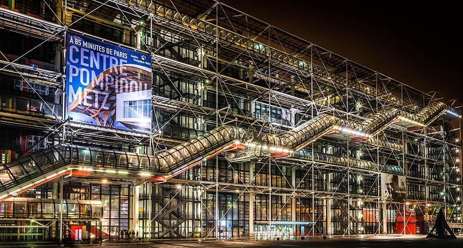 Pompidou Center Photograph - Paris Centre Pompidou by Tomas Horvat