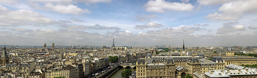 Paris City Skyline Photograph by Vii-photo