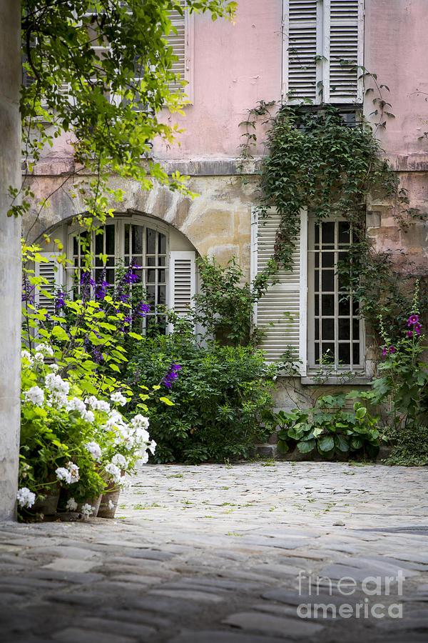 Paris Courtyard Photograph