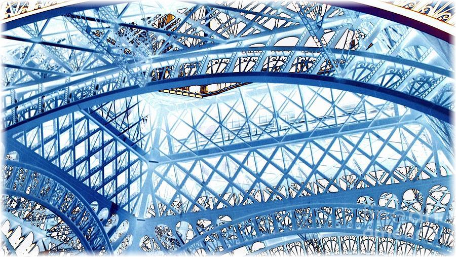 Eiffel Tower Photograph - Paris Design In Blue by Carol Groenen