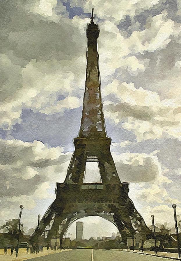 Paris Digital Art - Paris Eiffel Tower 4 by Yury Malkov