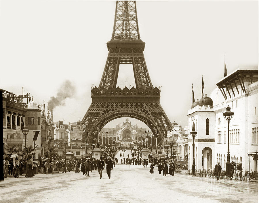 paris exposition eiffel tower paris france 1900 historical. Black Bedroom Furniture Sets. Home Design Ideas