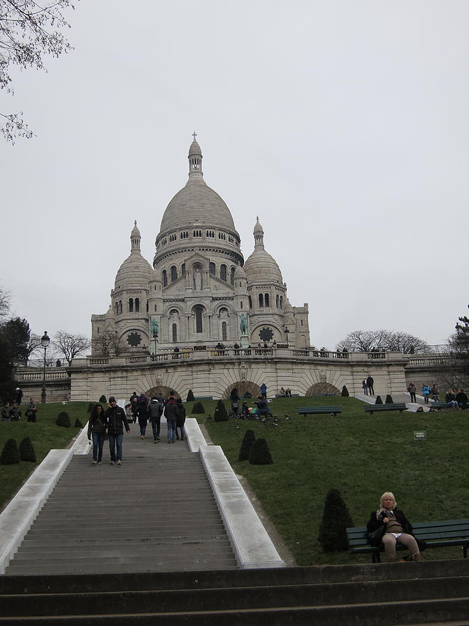 Paris Photograph - Paris France - Basilica Of The Sacred Heart - Sacre Coeur - 12128 by DC Photographer