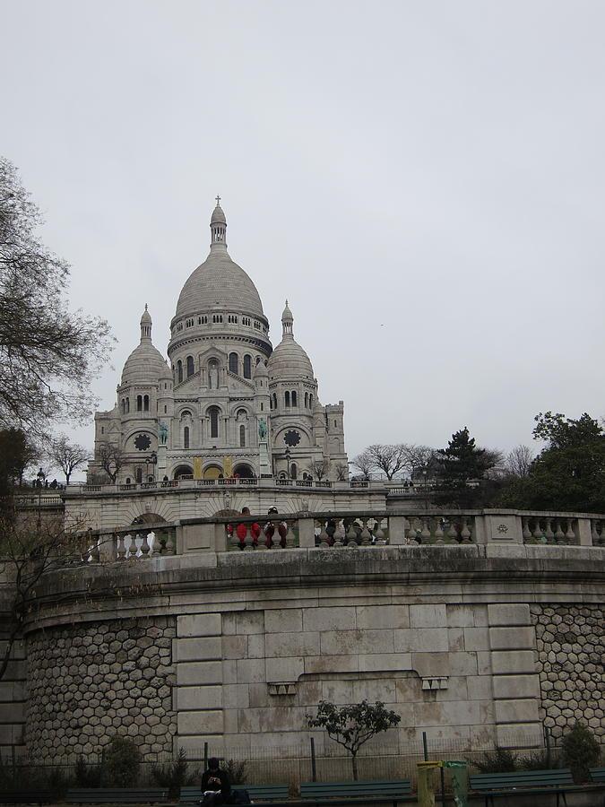 Paris Photograph - Paris France - Basilica Of The Sacred Heart - Sacre Coeur - 12129 by DC Photographer