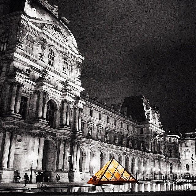 Louvre Photograph - #paris #france #louvre #bw #architecture by Luisa Azzolini