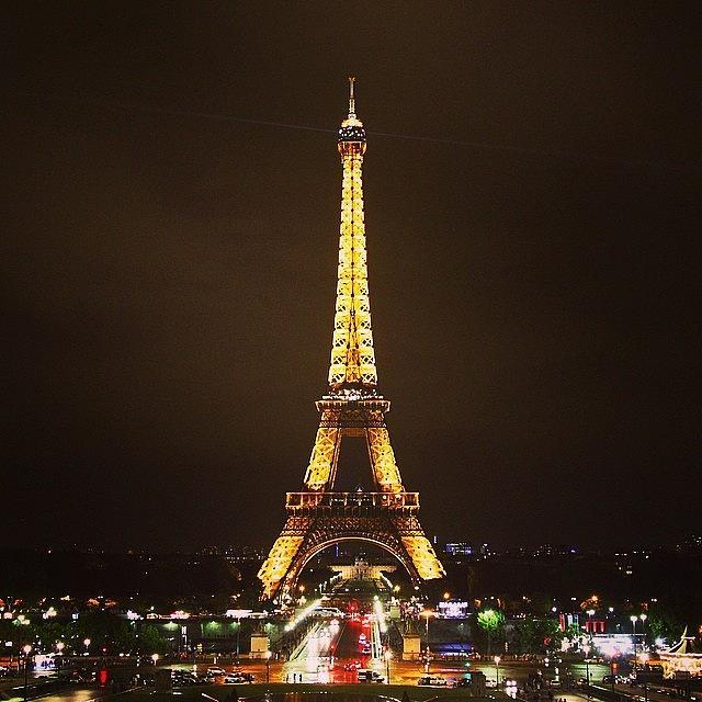 Urban Photograph - #paris #france #night #lights by Luisa Azzolini
