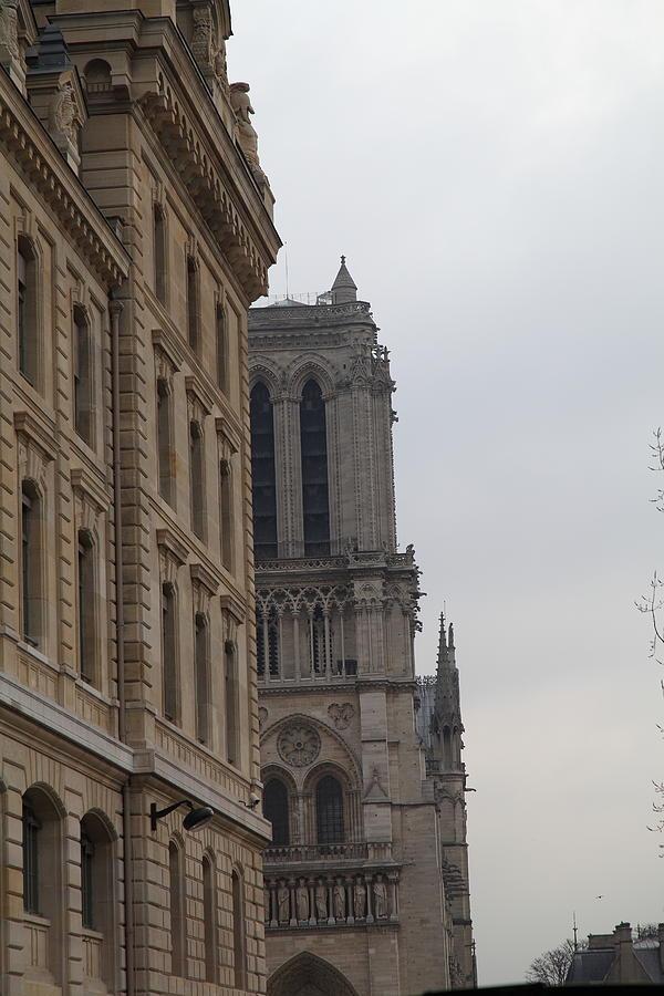 Aged Photograph - Paris France - Notre Dame De Paris - 01131 by DC Photographer