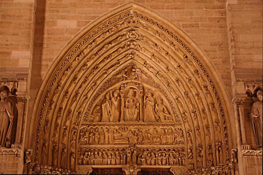 Aged Photograph - Paris France - Notre Dame De Paris - 01136 by DC Photographer