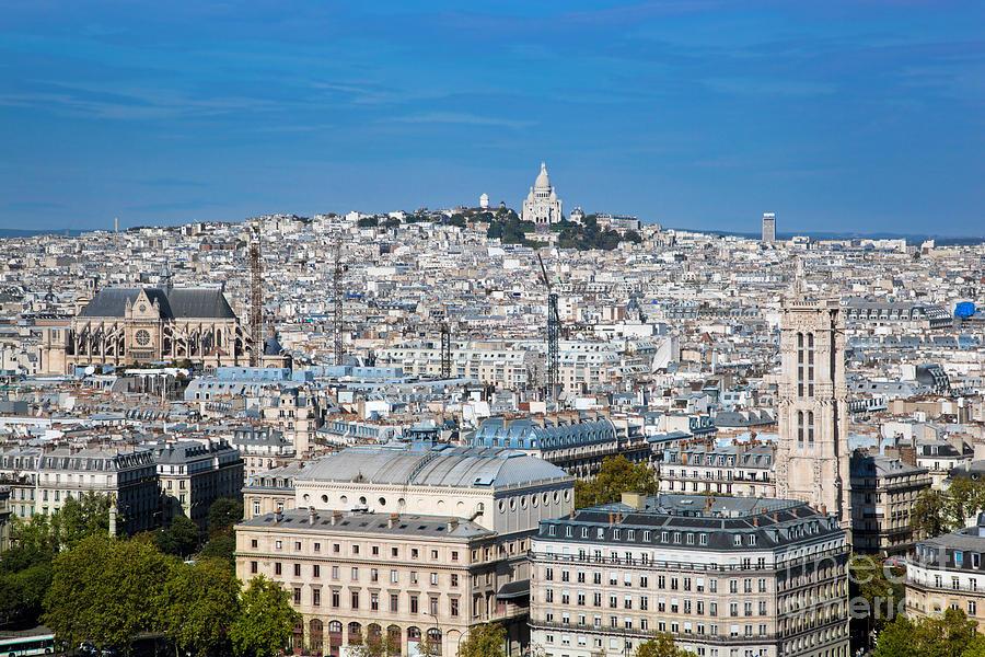 City Photograph - Paris France Sacre-coeur Basilica by Michal Bednarek