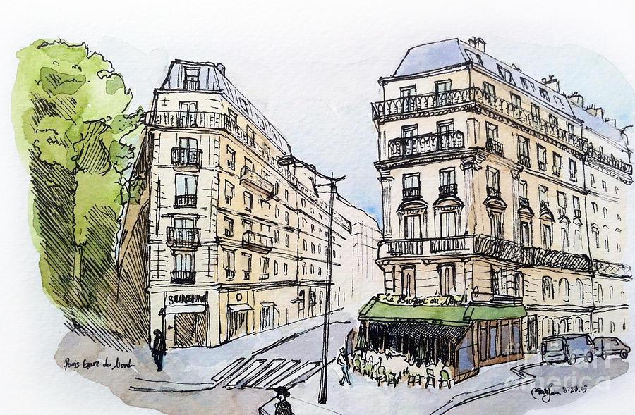 Paris Painting - Paris Gare Du Nord by Marie Minyoung Jeon