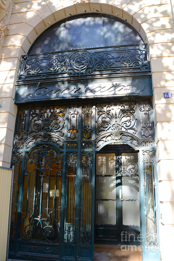paris guerlain storefront boutique paris guerlain blue door art nouveau art deco door. Black Bedroom Furniture Sets. Home Design Ideas
