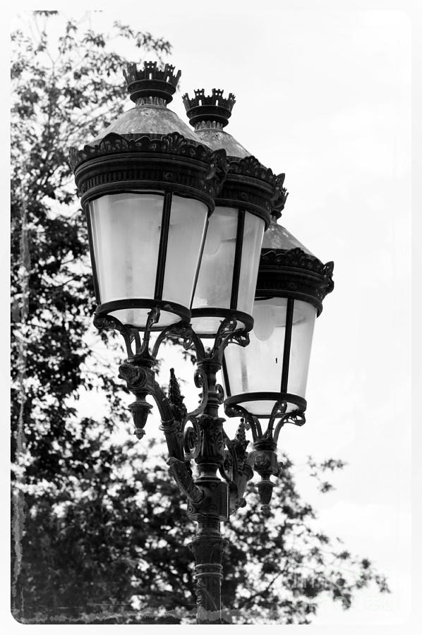 Paris photograph paris lamps black and white by carol groenen