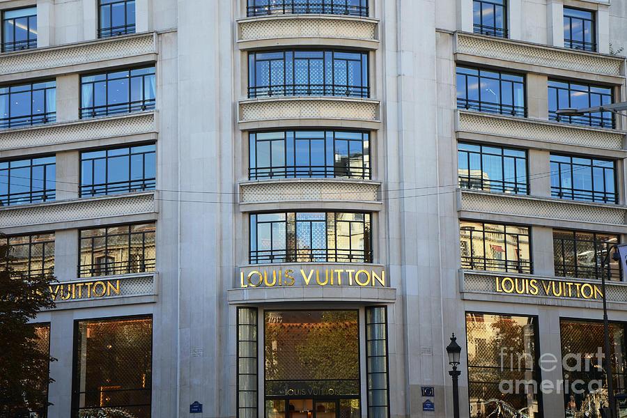 Paris Photograph - Paris Louis Vuitton Fashion Boutique - Louis Vuitton Designer Storefront Paris by Kathy Fornal