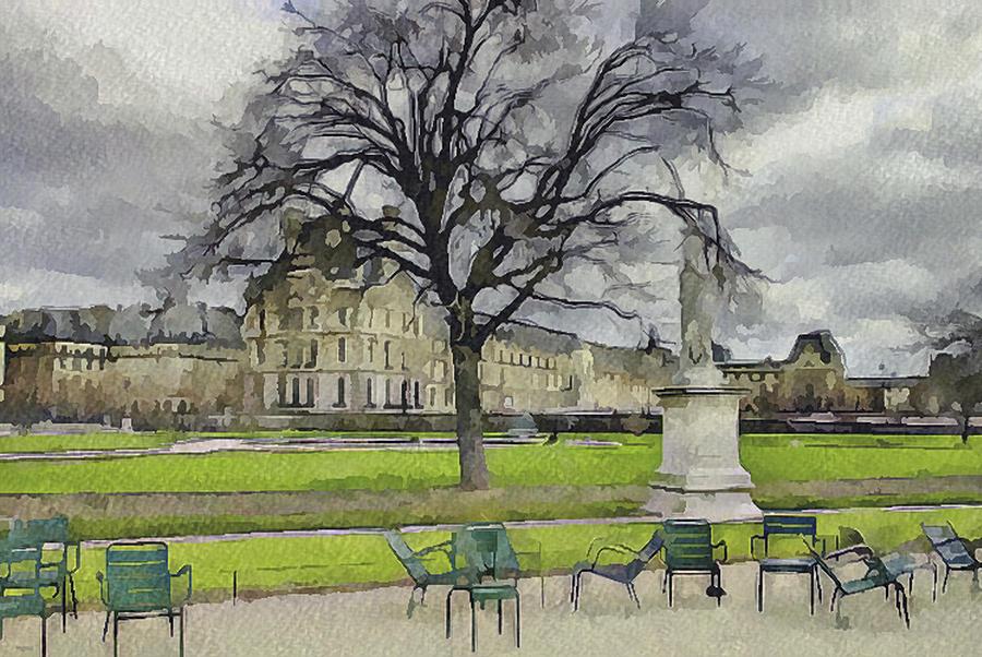 Paris Digital Art - Paris Louvre 1 by Yury Malkov