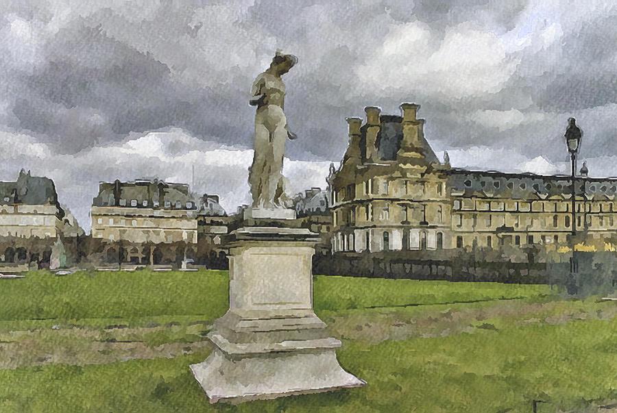 Paris Digital Art - Paris Louvre 2 by Yury Malkov