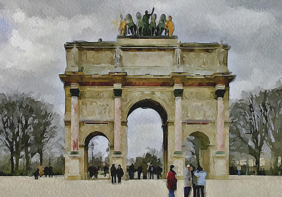 Paris Digital Art - Paris Louvre 4 by Yury Malkov