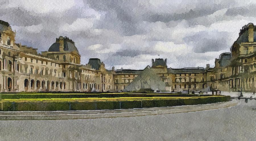 Paris Digital Art - Paris Louvre 5 by Yury Malkov