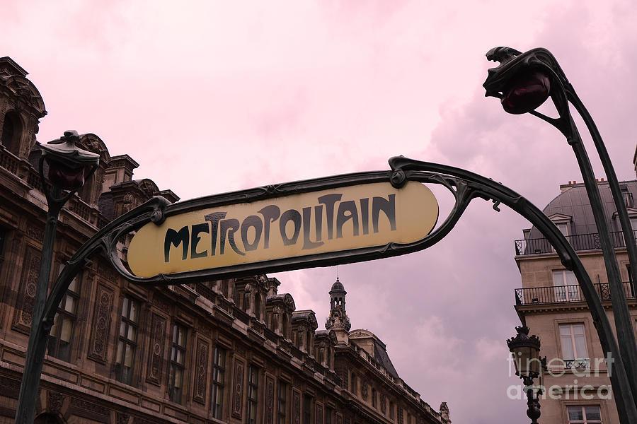 Paris Louvre Metro Sign - Paris Metropolitan Sign Art Nouveau ...