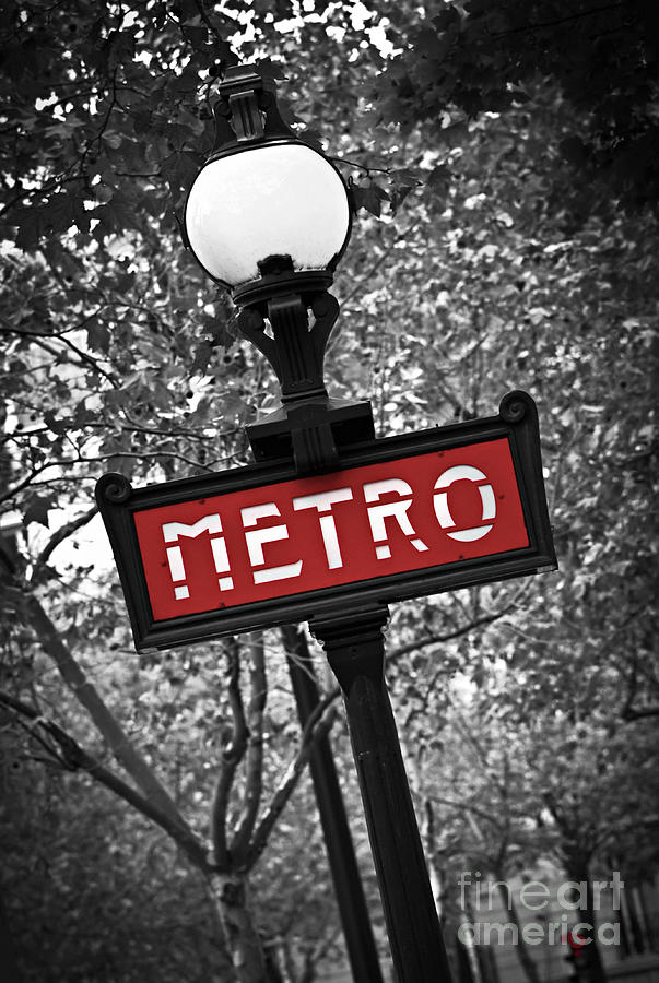 Architecture Photograph - Paris Metro by Elena Elisseeva