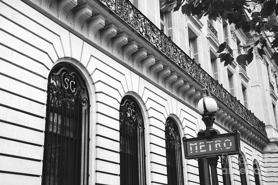 Paris metro sign photograph paris metro sign black and white art deco paris black