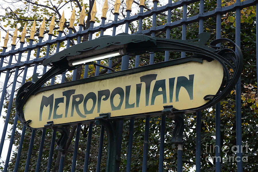 Paris Metropolitain Sign - Paris Metro Art Nouveau Signs - Paris ...
