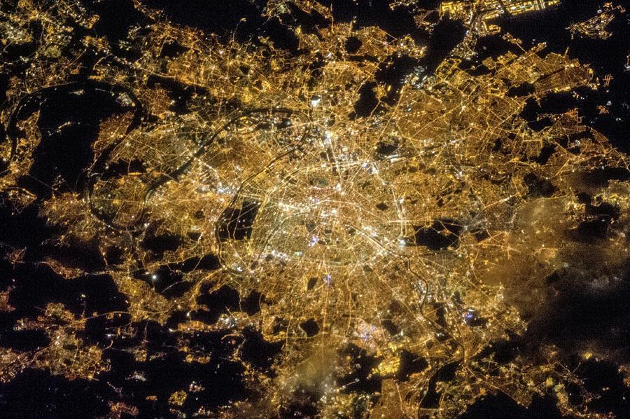 City Light Photograph - Paris by Nasa/science Photo Library