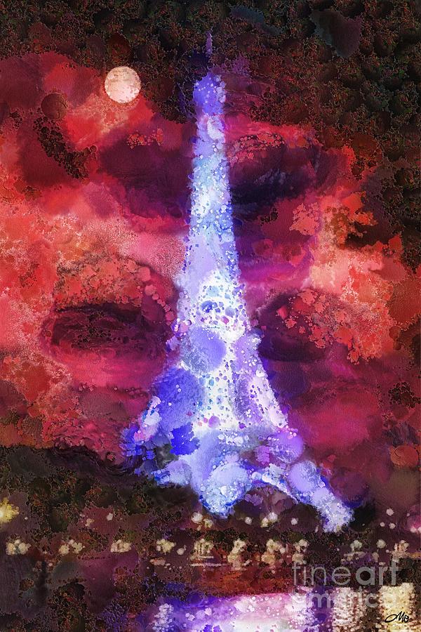 Paris Painting - Paris Night by Mo T