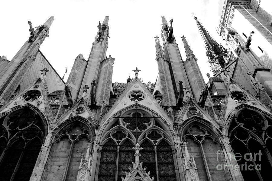 Paris Gothic Churches Photograph