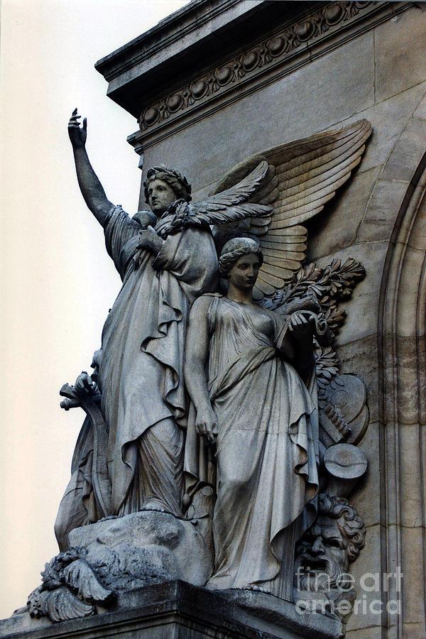 Paris Opera Angels - Opera De Garnier - Opera Statues And Angels ...