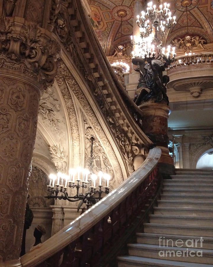 Paris opera house grand staircase chandeliers paris opera garnier paris photograph paris opera house grand staircase chandeliers paris opera garnier romantic architecture by aloadofball Image collections