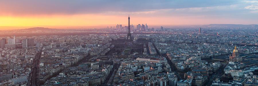 Paris Panorama Photograph by Wolfgang Wörndl