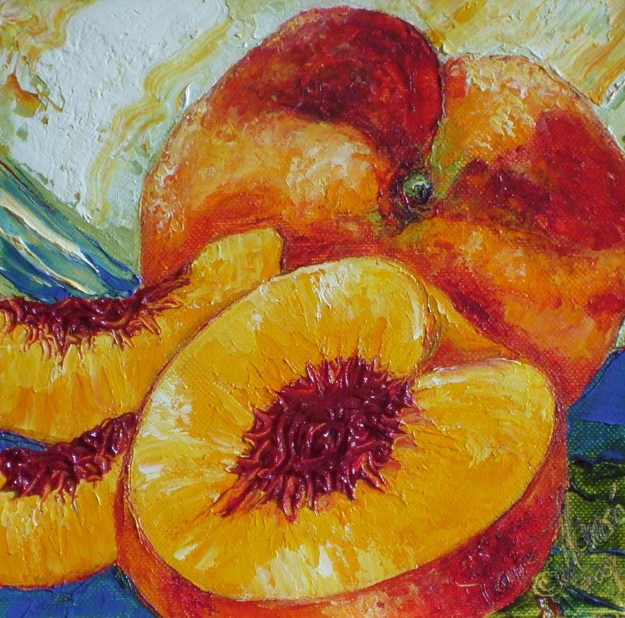 Fruit Still Life Painting - Paris Peach by Paris Wyatt Llanso