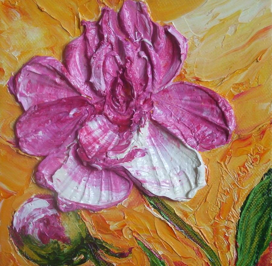 Paris Wyatt Llanso Painting - Paris Pink Peony by Paris Wyatt Llanso
