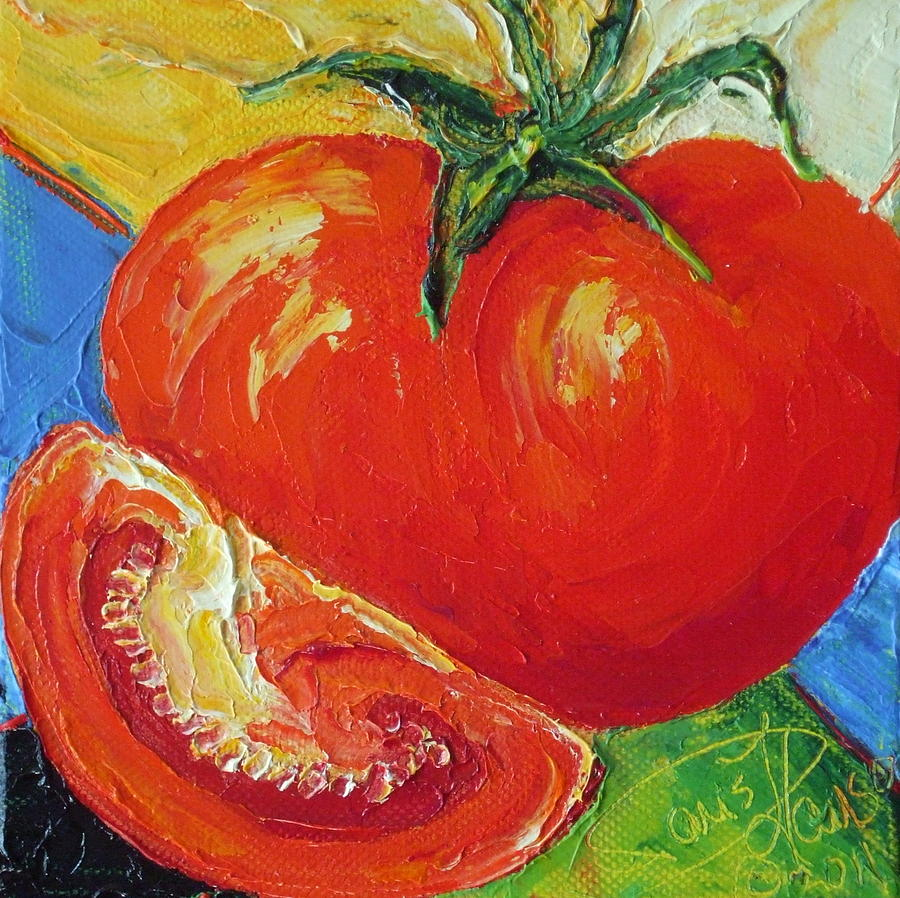 Still Life Painting - Paris Red Tomato by Paris Wyatt Llanso