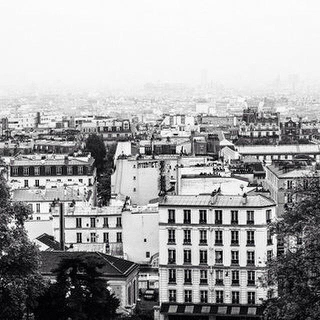 Europe Photograph - Paris Roofs Bw by Georgia Fowler