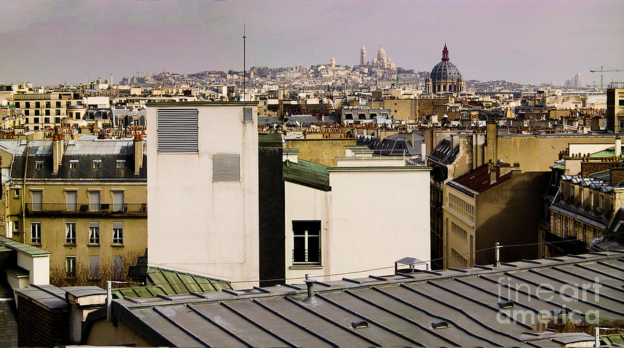 France Photograph - Paris Rooftop Panorama by Thomas Marchessault