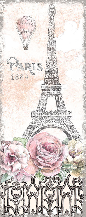 1889 Painting - Paris Roses Panel Viii by Beth Grove