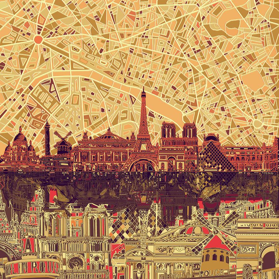 Paris Skyline Art   Fine Art America