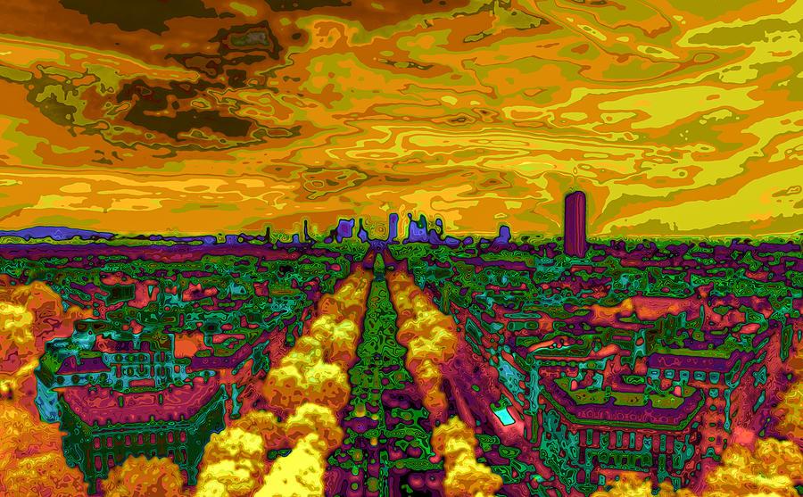 Famous Photograph - Paris Skyline Pop Art by Eti Reid