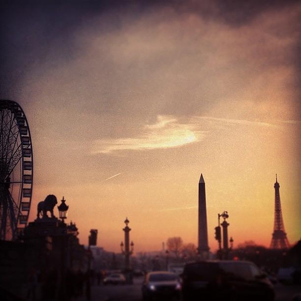 Paris Photograph - Paris Skyline Sunset by Louise Chester