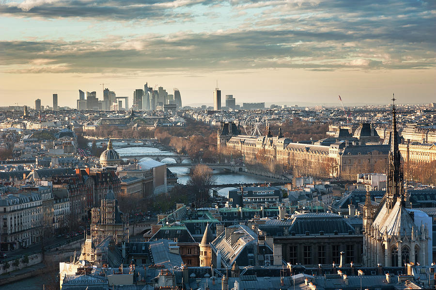 Paris Skyline View From Notre-dame Photograph by © Philippe Lejeanvre
