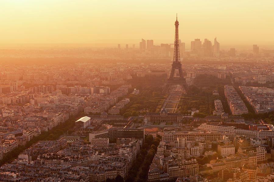 Paris Skyline With Eiffel Tower In Photograph by B&m Noskowski