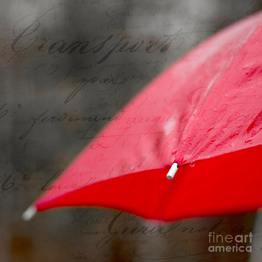 Red Photograph - Paris Spring Rains by Edward Fielding