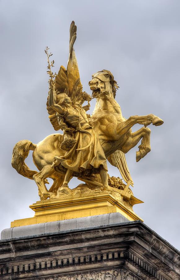 Paris Photograph - Paris Statue by Ioan Panaite