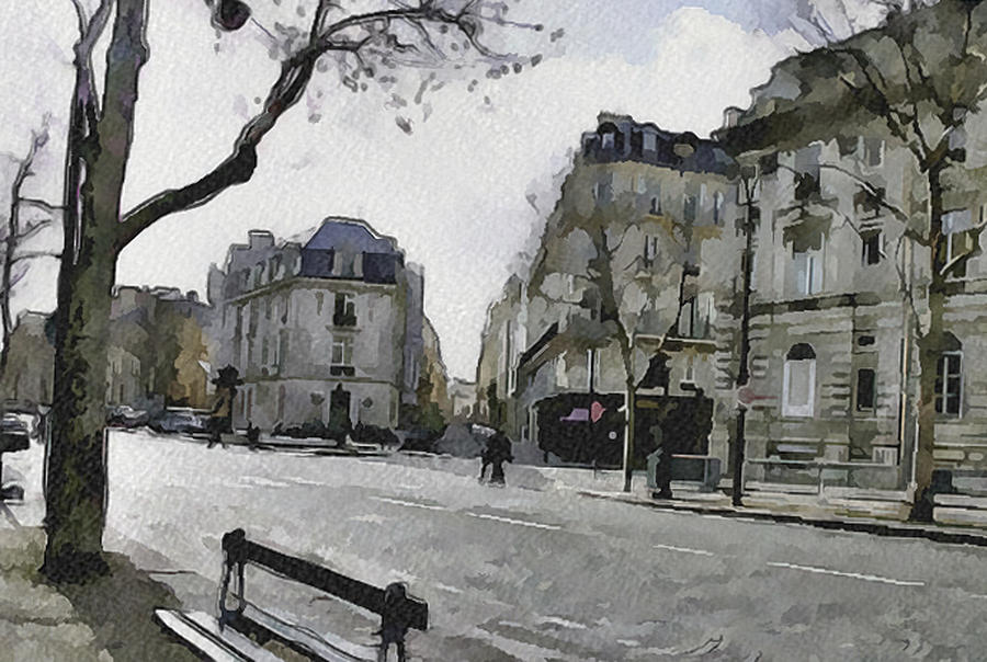 Paris Digital Art - Paris Streets 1 by Yury Malkov